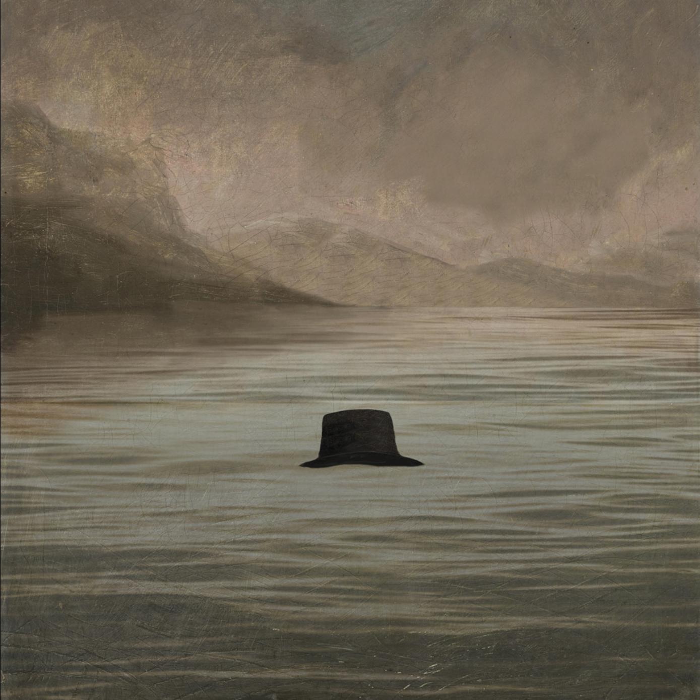 Reverend Robert Walker's hat floating on a loch.