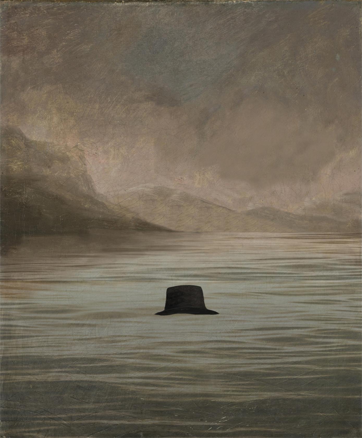 Reverend Robert Walker's hat floating in the same spot on the loch.