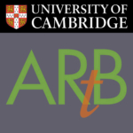 Art at the ARB logo combined with the Cambride University logo